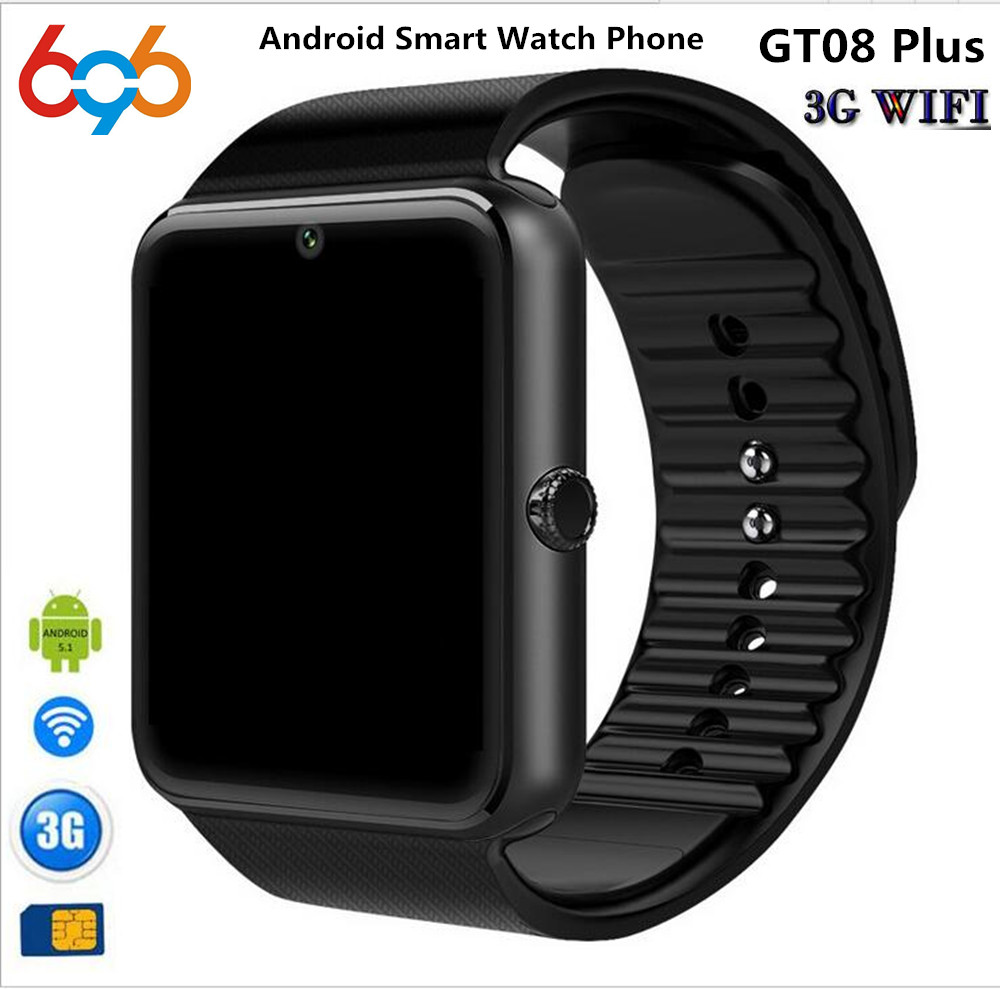 696 Hot GT08 Plus 1.54 Android 4.4 Smartwatch Phone MTK6572 512M RAM 4GB ROM Bluetooth 4.0 3G WiFi GPS Waterproof Smart Watch no 1 d5 bluetooth smart watch phone android 4 4 smartwatch waterproof heart rate mtk6572 1 3 inch gps 4g 512m wristwatch for ios
