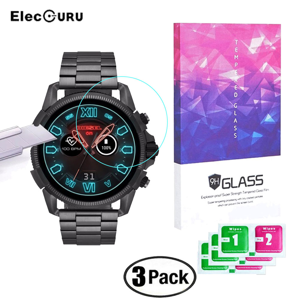 Tempered Glass Screen Protector For Diesel On Full Guard 2.5 Touchscreen Smartwatch 9H Scratch Proof Bubble-Free Protective Film