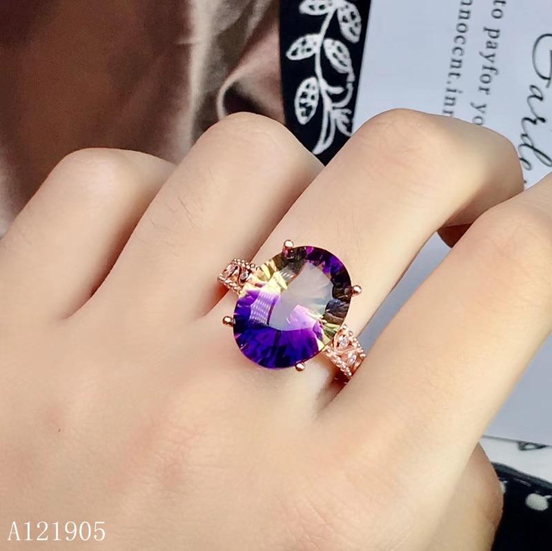 KJJEAXCMY boutique jewelry 925 sterling silver inlaid amethyst gemstone ladies luxury ring