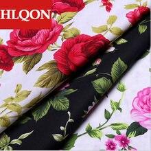 Высокое качество 100% хлопок сатиновая ткань с цветочным принтом