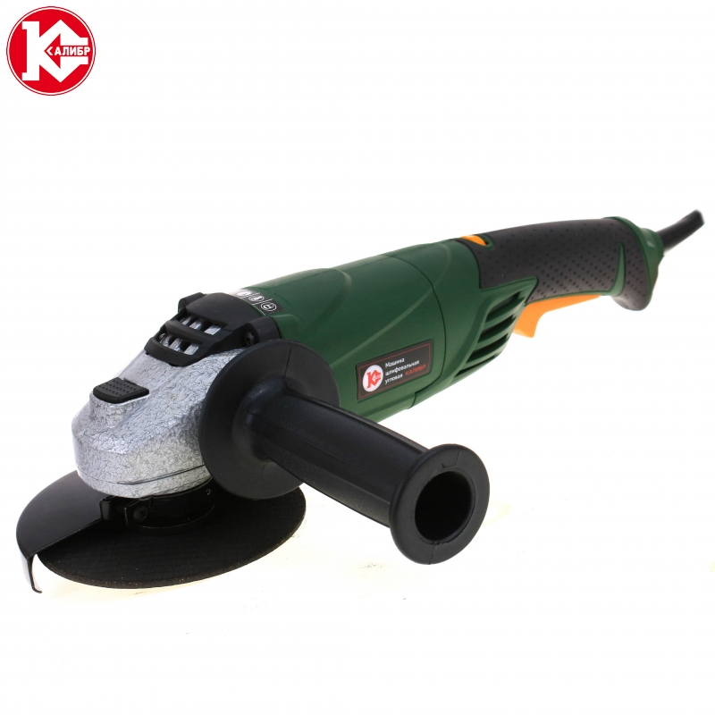 Electric tool Angle grinder Kalibr MSHU-125/1200E, disc 125 mm, power 1200 W, angular power tool for grinding and cutting metall talentool 25mm diamond cutting cut off blade wheel disc rotary tool for dremel with 2pcs mandrel