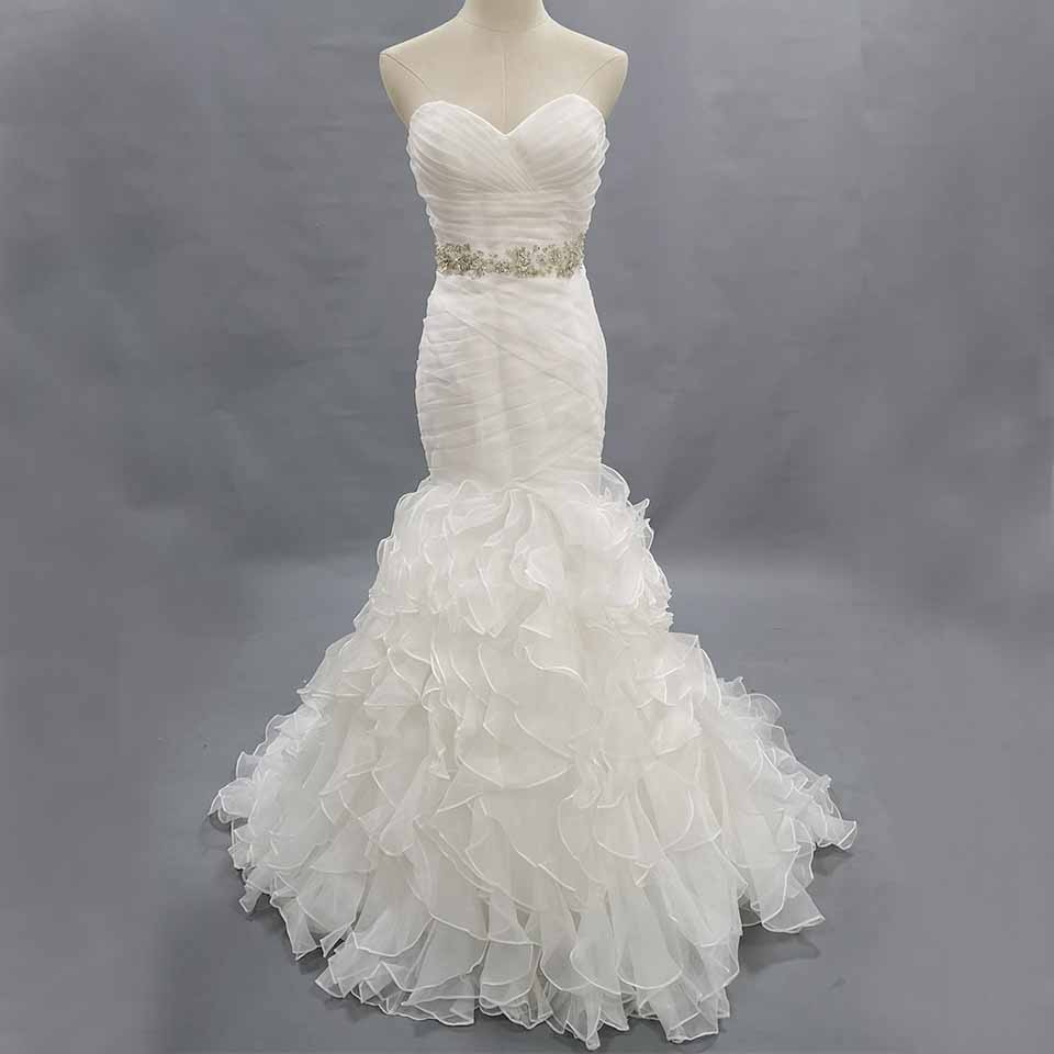Sweetheat Wedding Dresses Ruffled Bridal Gown Only One