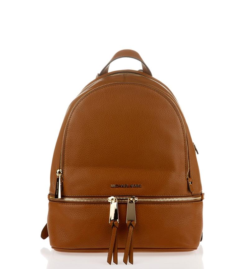 d1a5a69594fb ... Michael Kors Rhea brown leather backpack 25,4x29,9x11,4cm on Aliexpress.