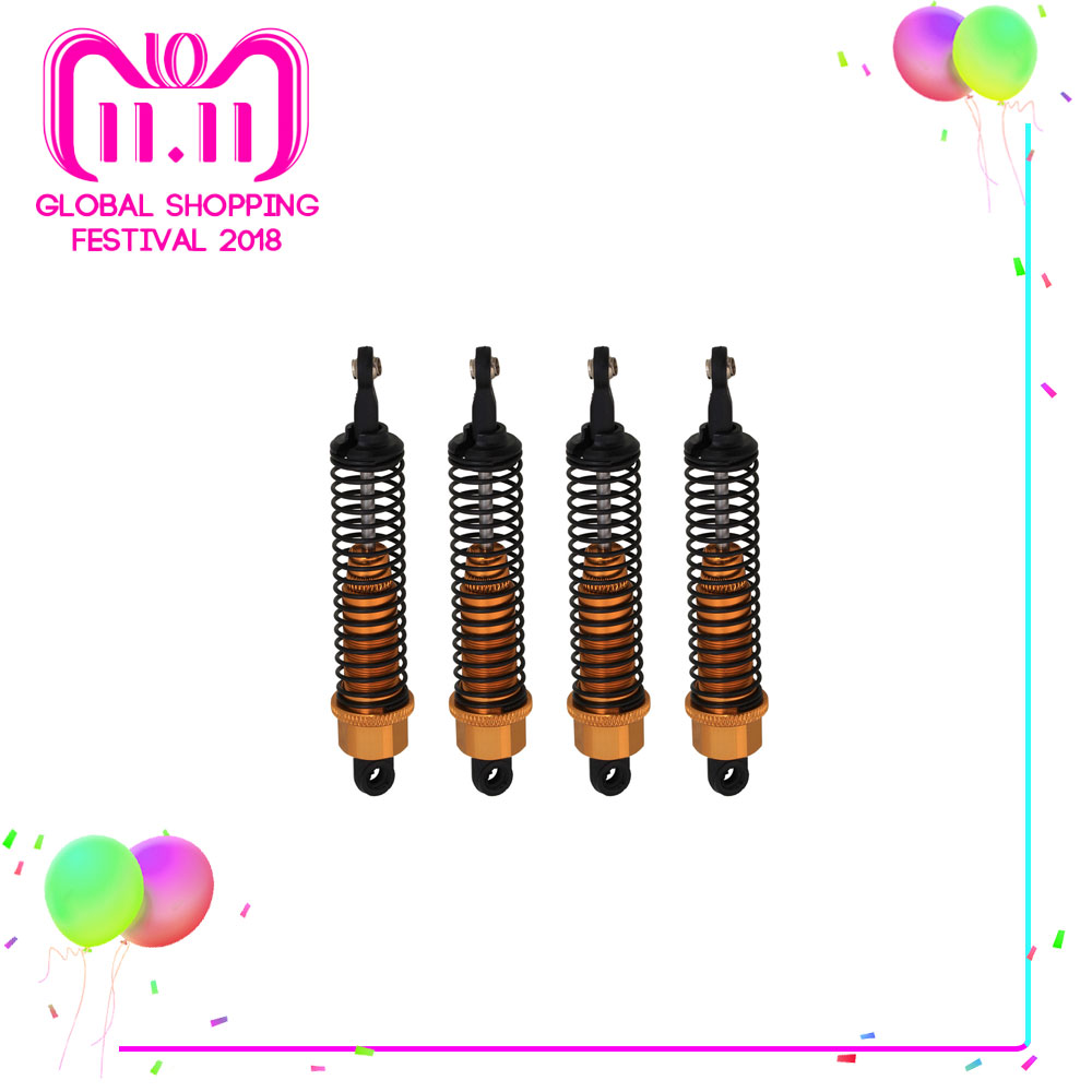 Mxfans 4pcs 286004 Shock Absorber for HSP RC 1:16 Model Truck Car Upgrade Parts 86604 hsp upgrade parts front lower suspension arms al 2p 286019 1 16 scale models himoto rc car troian meteor truck