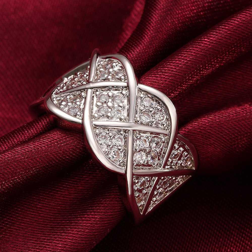 Uloveido grandes bagues pour femmes Vintage mariage bague de fiançailles argent/or couleur anneaux Anillos Mujer bijoux livraison directe R005