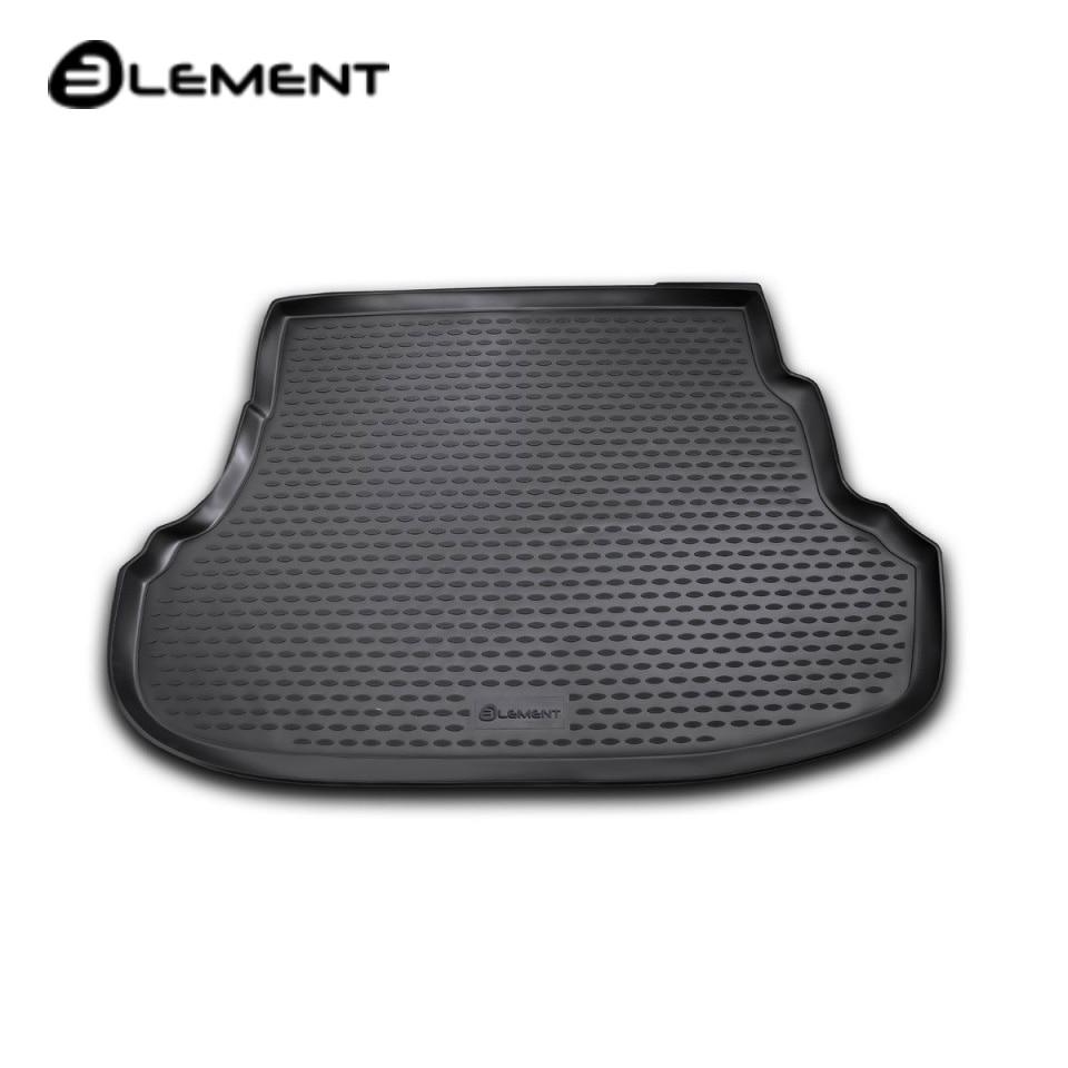 For Hyundai Solaris SEDAN 2011-2016 car trunk mat Element NLC2041B10 car trunk mat for daewoo nexia 1995 2016 element nlc1105b10
