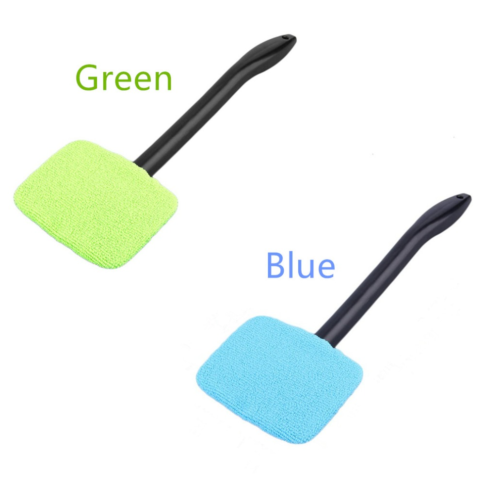 Green/Blue Microfiber Long Handle Car Wash Brush Auto Window Clean Car Window Windshield Cloth Clean Tools Washable Shine Handy цена