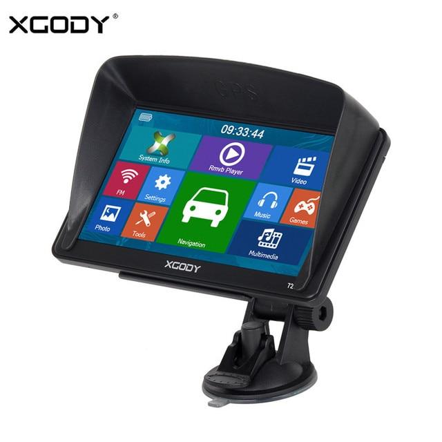XGODY Car Navigator GPS Truck Navigation 7 Inch Touch Screen Sat Nav Bluetooth Rear View Camera Navitel 2018 Europe Free Map