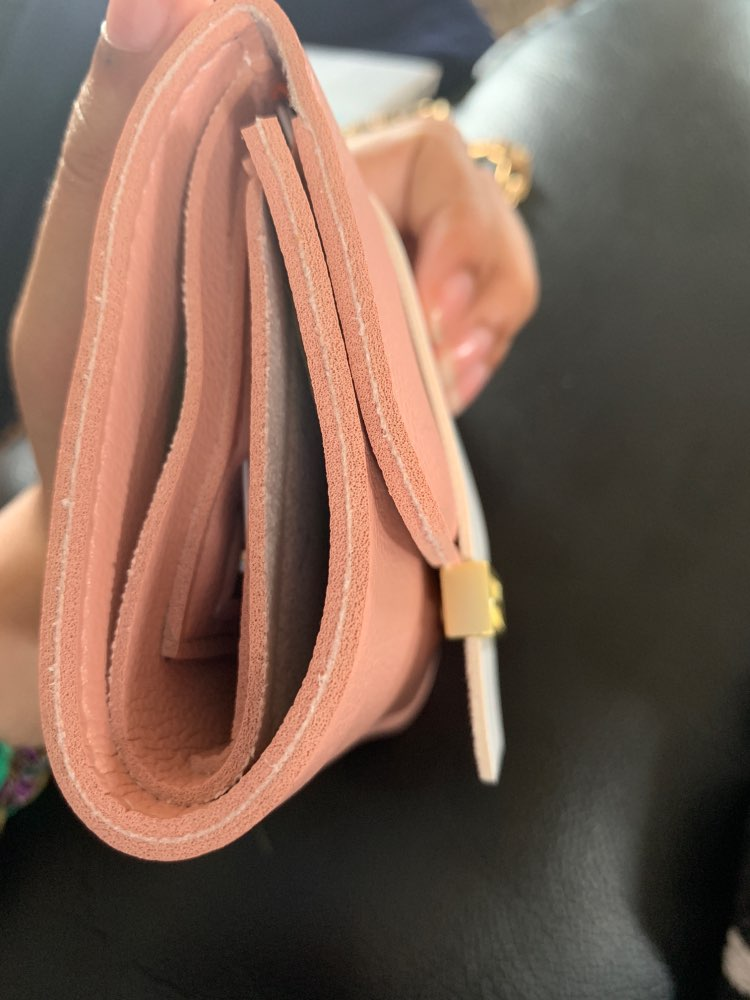 Small Women Leather Wallets Short Wallet Fashion Tri-fold Wallet Ladies Student Small Coin Purse  Designer Cute Kawaii Wallet photo review