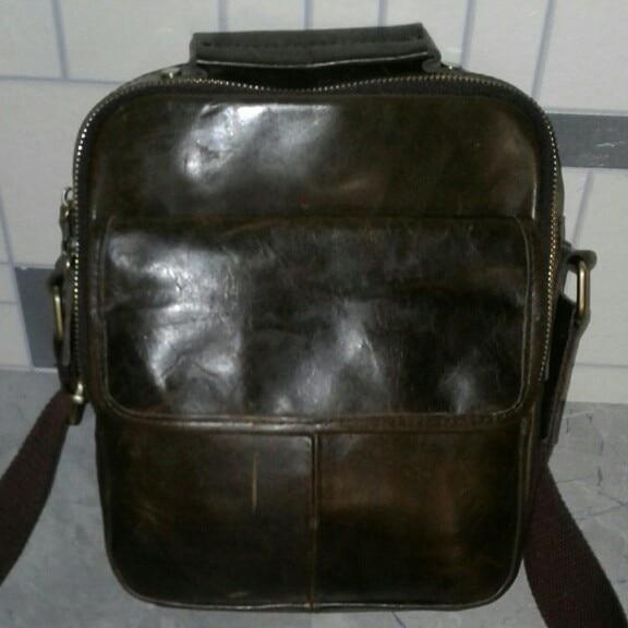 Мужская кожаная сумка GO-LUCK