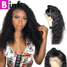 BINF Malaysian Kinky Curly Hair Wig 360 Lace Frontal Wig Non-Remy Hair Pre-Plucked With Baby Hair Hairline 100% Human Hair Wigs(China)