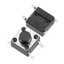 цена на UXCELL 150PCS 6x6x5mm Switch Momentary Panel PCB SMD SMT Mount 4 Pins Push Button SPST Tactile Tact Switch Electrical Equipment