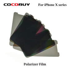 Novecel 10PCS LCD Polarizer Film For iPhone X XR  Polarization Polarized Light Replacement