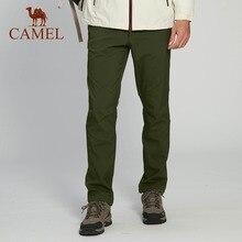 CAMEL Men Women Hiking Pants Outdoor Softshell Trousers Waterproof Fleece Inner Thermal Flexible Sport Tactical Trekking Pants