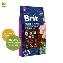 Корм Brit Premium by Nature Adult S для взрослых собак мелких пород, Курица, 8 кг