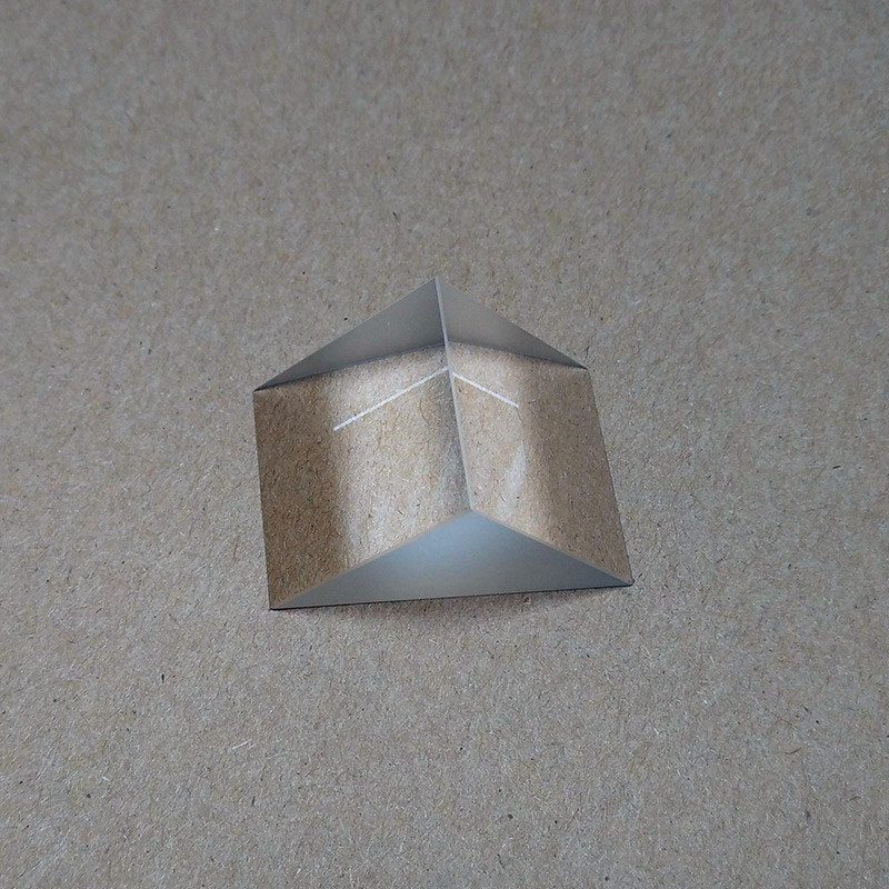 FGHGF Right angle prism 20*20*20mm Physics experiment equipment Optical instrument accessories Student Science Experiment