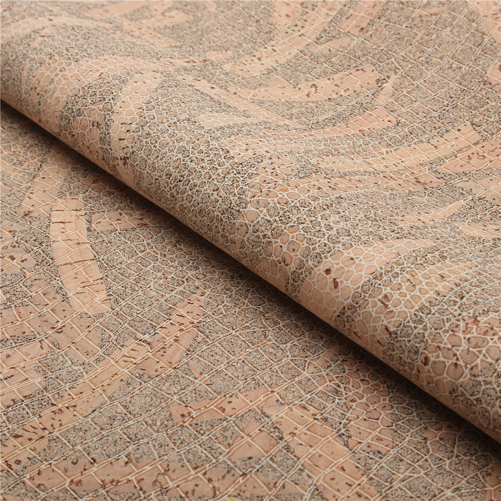 PORTUGAL cork fabric 68x50cm/135x100cm snake skin pattern leather Vegan waterproof Abrasion resistance fabric COF-140 цены онлайн