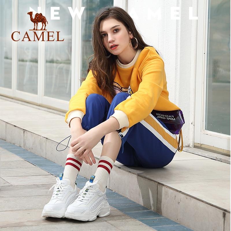 CAMEL mujer primavera nueva moda Casual zapatos mujer cuero alta plataforma Retro Ins zapatos para damas ocio tendencia estudiantes zapatos-in Zapatos vulcanizados de mujer from zapatos    2