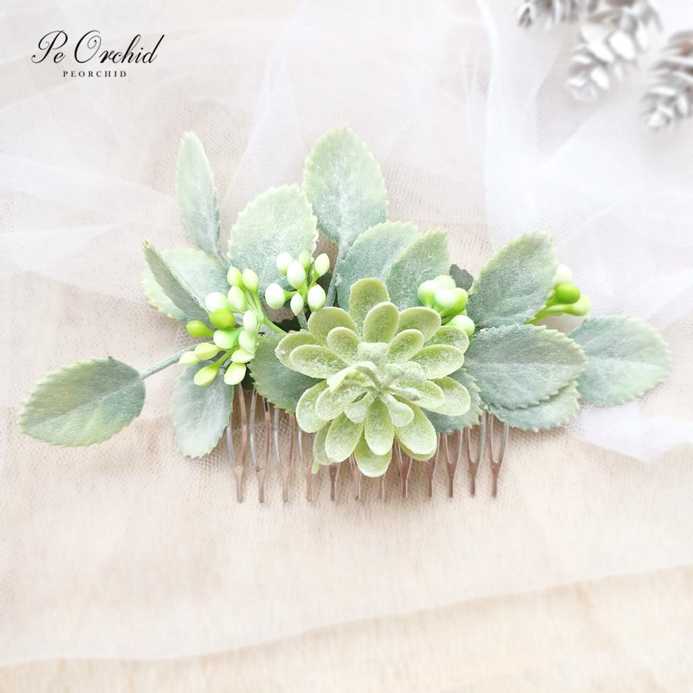 Set of Flower hair comb Greenery hair comb Wedding hair accessory Flower hair piece Bridal hair accessory Bridesmaid hair comb Flower girl