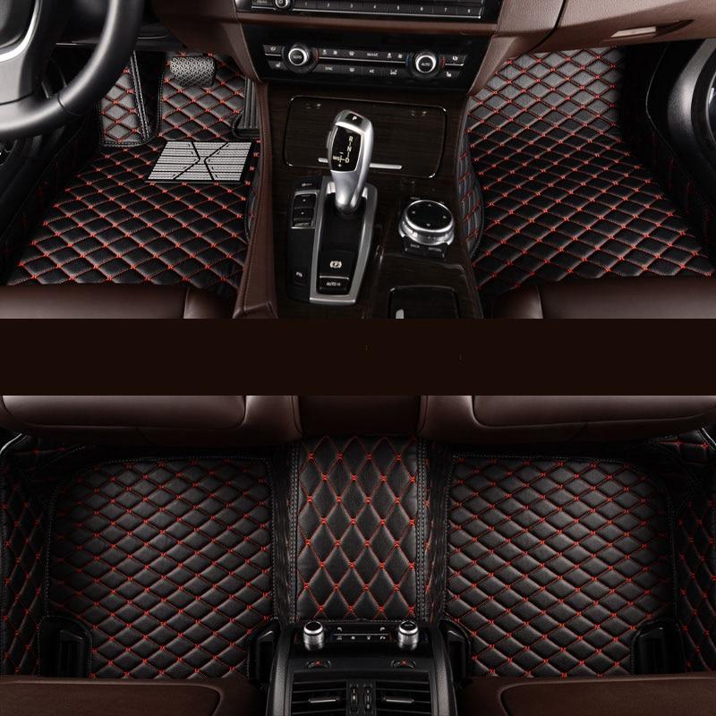 Anpassade bil golvmattor 5or7 sits all modell för vw golf bmw e46 ford fokus 2 Chevrolet cruze volvo XC90 Bilmattor biltillbehör
