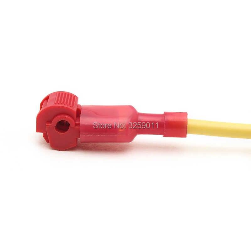 1 PCS Diri Stripping Kawat Listrik T-Tekan Spade Konektor Cepat Splice Kawat Terminal MDFN1.25-250 Merah 22-16 AWG T1