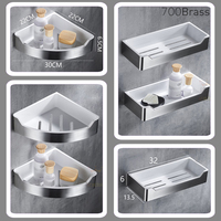 Stainless Steel Bathroom Shower Basket for Shampoo / Soap, Kitchen Accessories Storage Organizer, Dill free Easy Installation