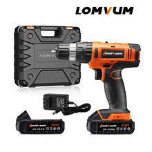 LOMVUM 20V Electric Rechargeable Multi-function Concrete Wall Cordless Drill With Lithium Battery Instruments Mini Magnetic.