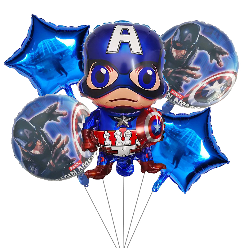 Image 3 - 5pcs Superhero Spiderman Avengers Batman America Foil Balloons Birthday Party Supplies Superman Air balloon Children's Day Toys-in Ballons & Accessories from Home & Garden