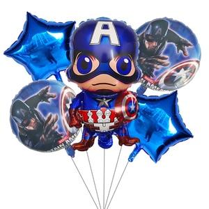 Image 3 - 5pcs superhero Spider man Avengers Batman Captain America Foil Balloons Birthday Party decoration Air balloon Kids Toys balloon