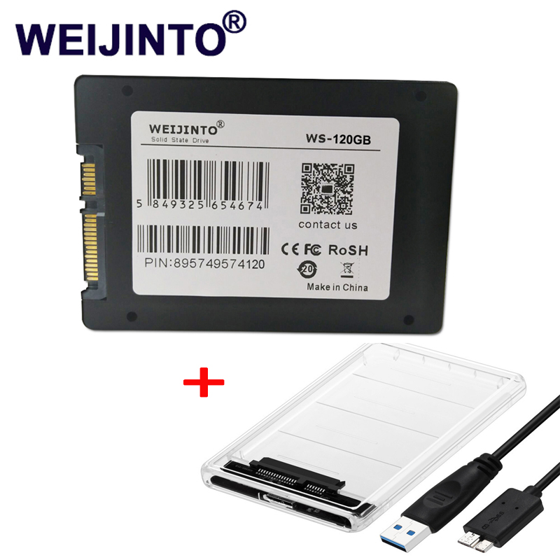 WEIJINTO SSD 60GB 32GB 120GB 240GB 256GB 512GB 480GB 360GB 960GB SATAII SATAIII 2.5 HDD internal Solid State disk & SSD Case цена