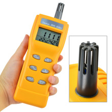 Digital Indoor Air Quality Meter Carbon Dioxide (CO2) Tester 0~9999ppm Range Temperature Humidity NDIR Sensor CO2 WB DP