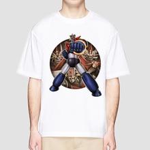 mazinger z 2018 men t-shirt Short sleeve O-Neck Novelty White Tshirt cool Hip Hop T shirt MR3155