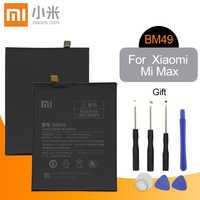 Originale Per XIAO mi mi max batteria BM49 PER Xiao Mi mi max coperchio della Batteria Mi Max 1 BM49 di RICAMBIO batteria Del Telefono 4760mAh + Strumenti