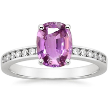 ANI 18K White Gold (AU750) Women Wedding Ring Certified Natural Pink Sapphire Oval/Rectangle Shape Lady Engagement Diamond Ring цена 2017