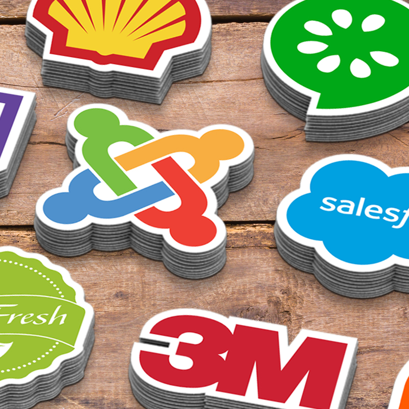 Custom Design Die Cut Stickers For Brand Logo Company Name With Hi-quality Printing Strong Adhesive For Promotional Use