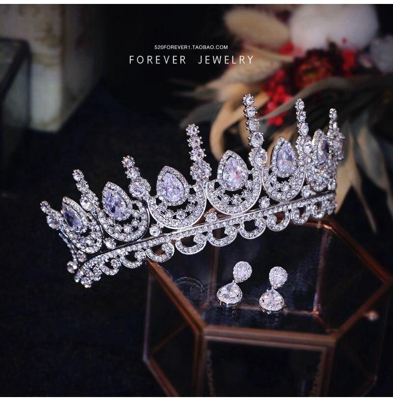 где купить Luxo Espumante CZ Coracao de Cristal Coroa De Noiva Enfeites de Cabelo Para As Mulheres Novos Acessorios Para o Cabelo Tiaras дешево