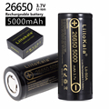 HK LiitoKala lii-50A 26650 5000mah lithium battery 3.7V 5000mAh 26650 rechargeable battery 26650-50A suitable for flashligh NEW
