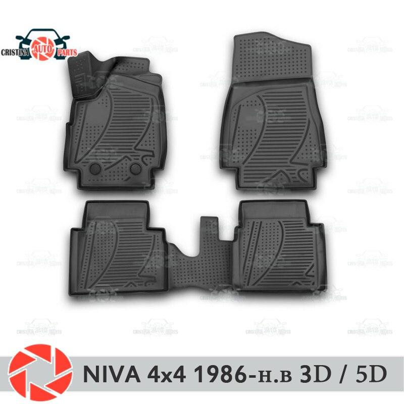 Para Lada Niva 4x4 1986-2018 tapetes tapetes antiderrapante poliuretano proteção sujeira interior do carro styling acessórios