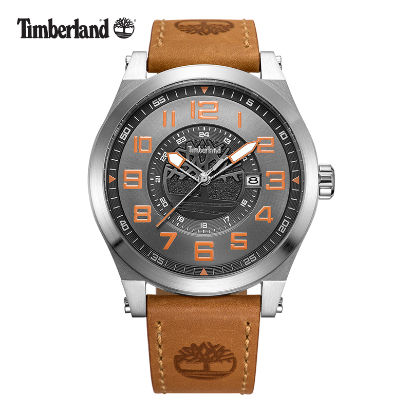 Timberland Water Resistant to 165 Feet Leather Men's Watches Sweep Second Hand Fashion Casual Quartz  Complete Calendar T14644