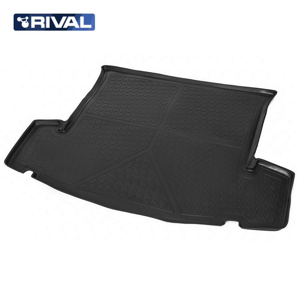 For Chevrolet Captiva 2011-2016 trunk mat for cars with 5-seats saloon Rival 11007003 for mitsubishi outlander 2013 2019 trunk mat for cars with organizer rival 14002003