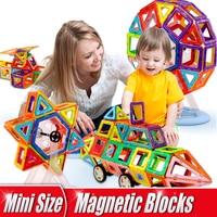 64 164pcs Mini Size 3D Magnetic Building Blocks Magnetic Designer Construction Set DIY Educational Children Toys