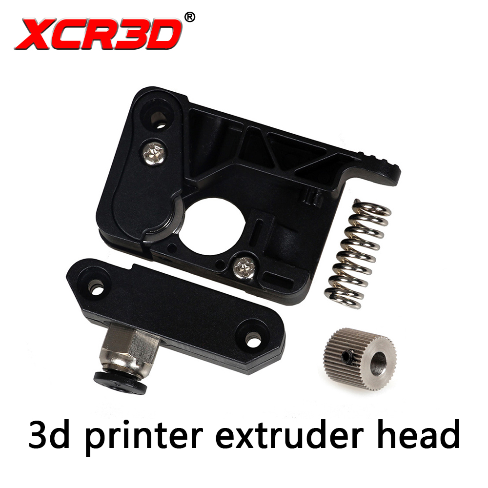 цена на XCR3D MK8 Extruder DIY kit 3D Printer Parts PC Plastic Universal Extruder Kit for Makerbot 1.75mm Filament With Gear
