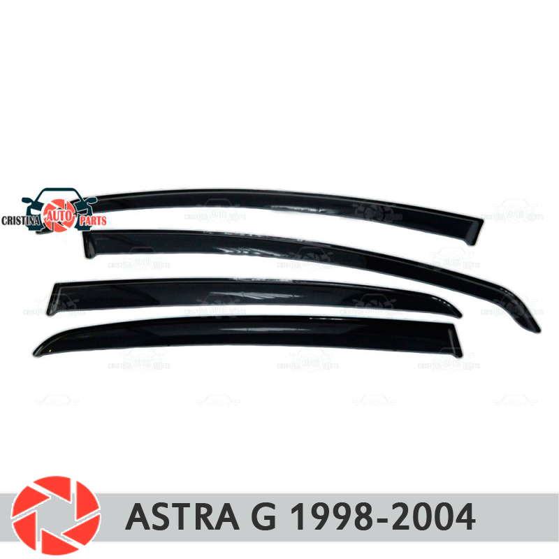 Window deflector for Opel Astra G 1998-2004 rain deflector dirt protection car styling decoration accessories molding 2pcs car styling round front bumper led fog lights drl daytime running driving fog lamps for opel astra g saloon f69 1998 09