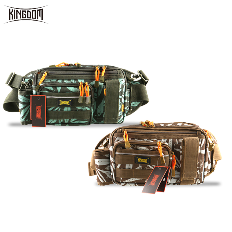 Kingdom Fishing Bag Multi Functional Large-size Waist Shoulder Fishing Lure Reel Box Tackle Bag 31*18*16cm Model LYB-12
