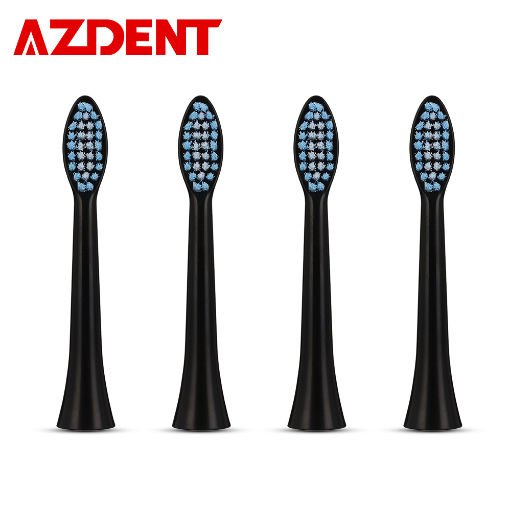 New 4pcs Replacement Heads For AZDENT AZ-08 Sonic Electric Toothbrush Ultrasonic Heads Deep Clean For Adults Tooth Whitening