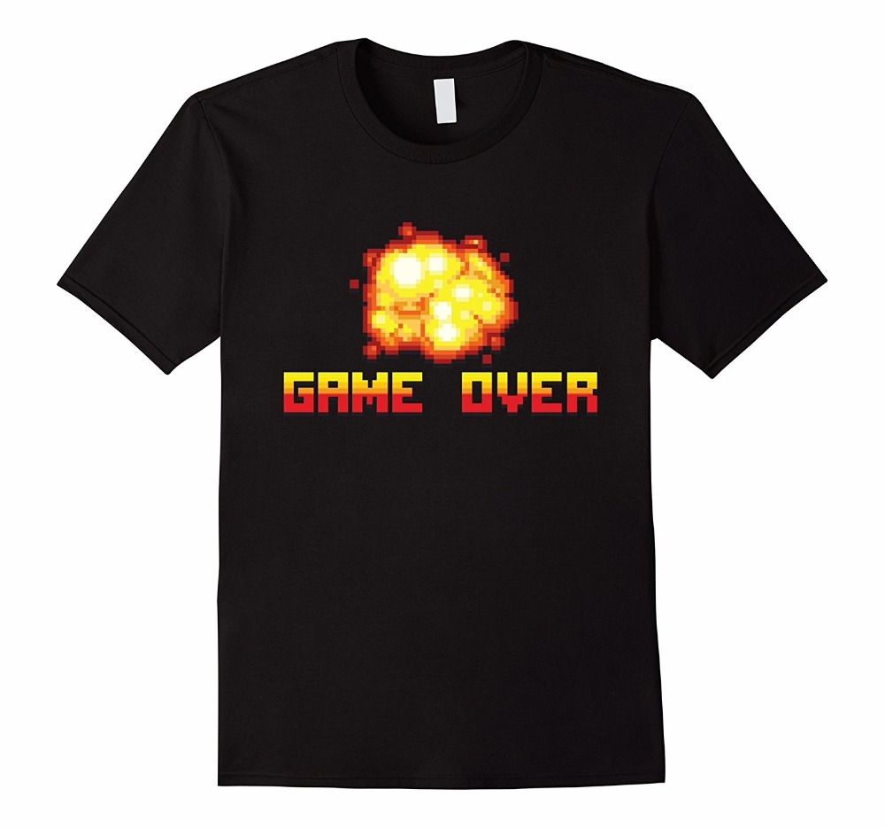 Creative Personality Of Mens T-Shirt Game Over Gamer Gaming T-Shirt Mens Funny Tshirts