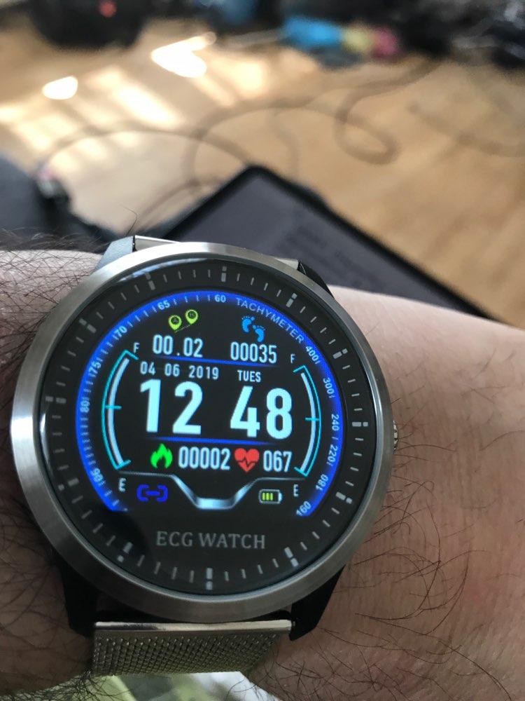JM ECG Smartwatch HRV Report Heart Rate Blood Pressure