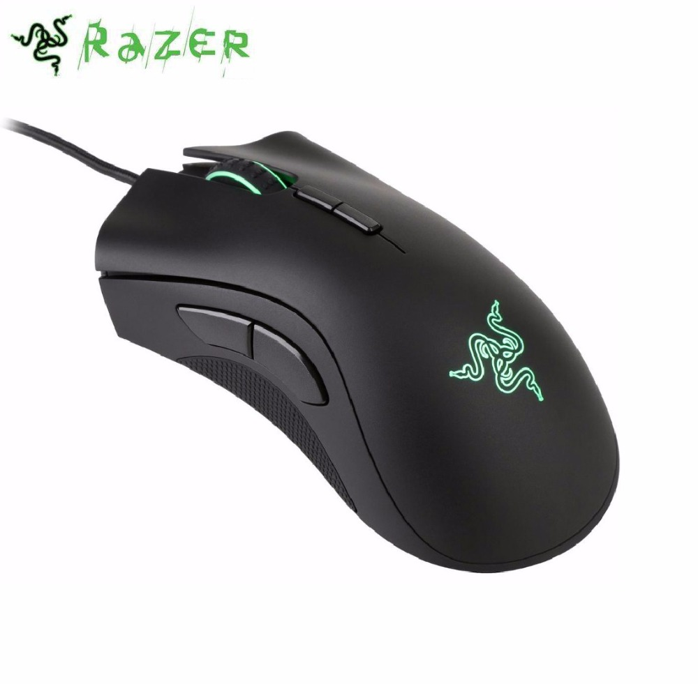 Razer DeathAdder Elite Gaming Mouse 16000 DPI RGB Ergonomic PC Gamer USB Wired with Retail Package For CSGO,Overwatch razer deathadder elite overwatch edition 16000dpi ergonomic wired gaming mouse chroma enabled rgb esports gaming mouse