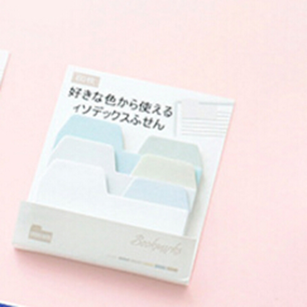 Gradient Color Index memo pad paper sticky notes planner sticker post it kawaii stationery papeleria school supplies 3 pcs candy colors sticky notes color smile memo pad post it note paper sticker stationery papelaria material school supplies