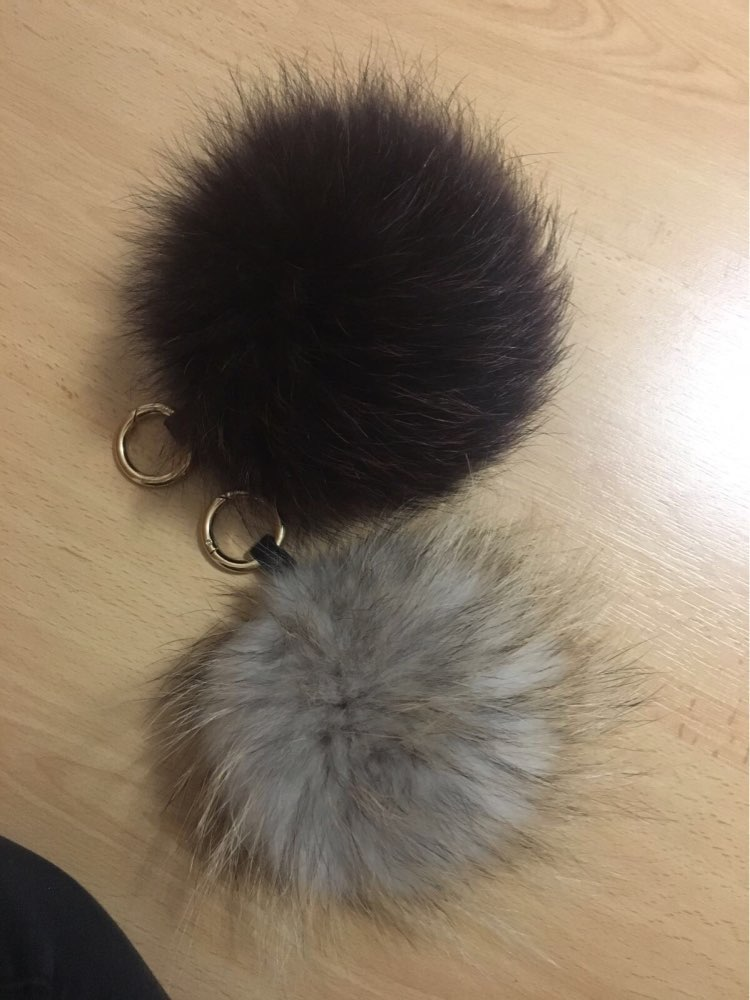 Detail Feedback Questions about Multi Colored Raccoon Fur Keychain ... 4104c8c499442
